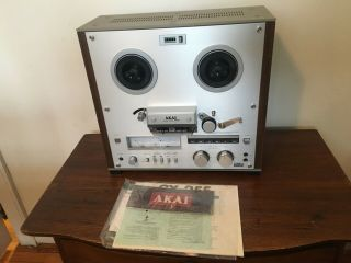 Akai Gx - 255 Reel To Reel Tape Deck Cosmetically W/rare Dust Cover &box