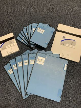 "Blue Rare Earth 800 Speed X - Ray Cassettes And Screens - 14 "" X17  (6) And 8 "" X10 "" (8)"