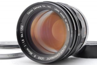 """ Rare "" [excellent,  ] Canon - Canomatic Lens R 85mm F/1.  8 From Japan"