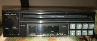 Vintage Alpine Rare 5900 Cd Player - The First Alpine Car Cd Player