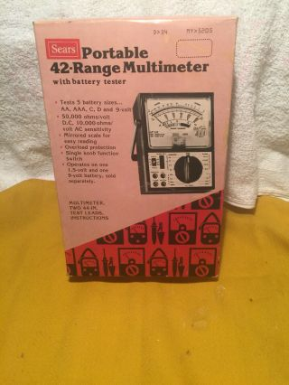 Vintage Sears Portable 42 Range Multimeter