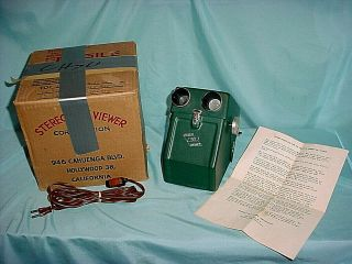 Rare Stereo 50 Sequential Realist 3d Viewer W/slides 60