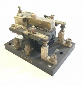 Antique Automatic Switch Co.  Coil Morse Code Telegraph Key Relay Sounder $9.  99