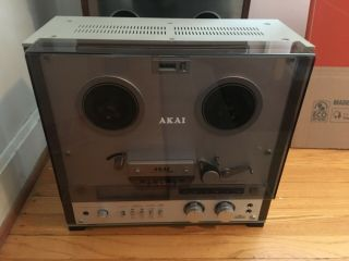 Akai Gx - 255 Reel To Reel Tape Deck Fully Rare Dust Cover &box