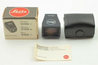 【rare Boxed Near Mint】 Leica 28mm Bright - Line Viewfinder,  Case From Japan