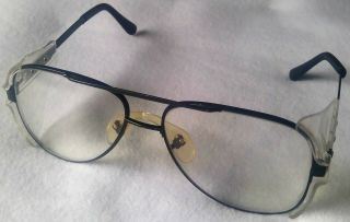 Prescription Safety Glasses 147mm Crews Engineer Z87 Vintage Antique Black