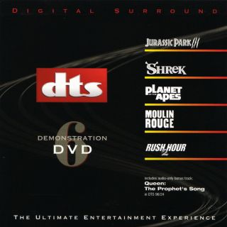 Dts 5.  1,  6.  1 & Es Demo 6 Very Rare Demonstration Dvd Like