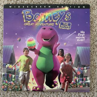 Barney's Great Adventure The Movie Widescreen Laserdisc - Very Rare Late Release