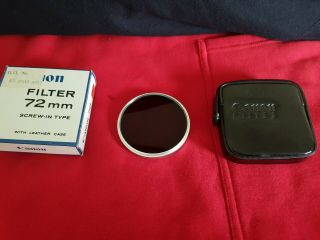 Canon 50mm 0.  95 Dream Lens.  Rare 72mm Nd4x Filter And Case.