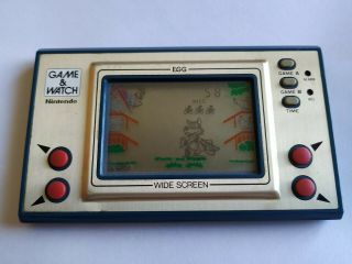 Game & Watch Wide Screen Egg Vintage Rare Nintendo Handheld Electronic Game