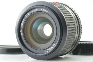 Rare [mint,  ] Minolta Md 28mm F/2 Mf Wide Angle Lens Cap Nmd From Japan 315