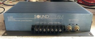 Old School Soundstream D200 2 Channel Amplifier,  Rare,  Usa,  Vintage,  Sq