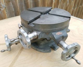 "Vintage Craftsman - Palmgren 8 "" Rotary Table Xy,  Cross Slide T Slot Table Rare"