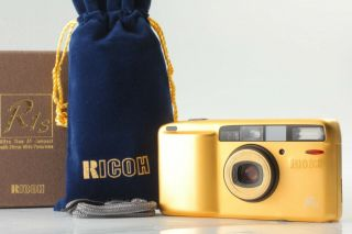[super Rare In Box] Ricoh R1s Gold 35mm Film Camera From Japan 1123