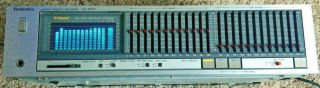Technics Stereo Graphic Equalizer Sh - 8055 24 Band Rare Made In Japan Silver Face