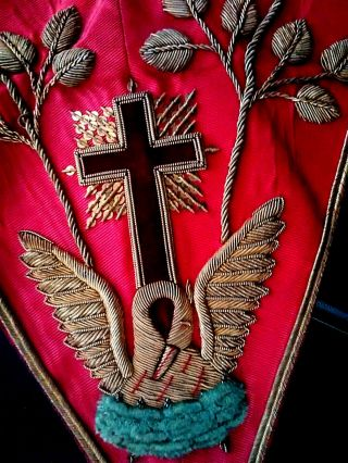 Vintage Rose Croix Collar,  Apron,  & Jewel By Richard Spencer A Rare Opportunity