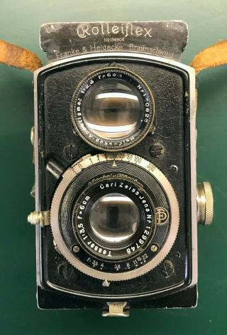 Rolleiflex Baby 4x4,  Rare First Model 4rf - 410 With Carrying Case,