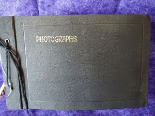 Antique Leather Photo Album,  Book,  Picture Holder,  Film,  Photographs,