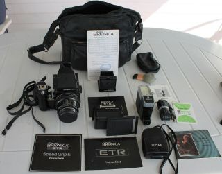 Zenza Bronica Etr Slr Camera Kit Includes Many Rare Items