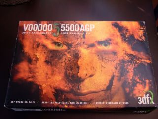 3dfx Voodoo5 5500 Agp With Box Rare