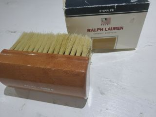 Ralph Lauren Rl81051 Chinex Bristle Stippler Brush Antiqued Leather Made In Usa