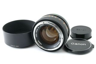 """Rare """" Almost """" Canon Fd 55mm F1.  2 Chrome Nose Lens From Japan 1993"""