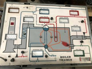 Vintage Boiler Trainer - Analyzer Inc Hard Case Rare Training System Display 70s