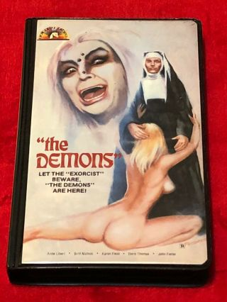 The Demons Jess Franco Eurosleaze Unicorn Clamshell Vhs - Rare