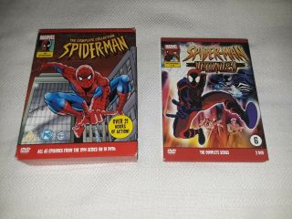 Spider Man Animated Series,  Unlimited Ultra Rare Uk Region 2 Dvds