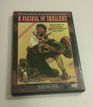 Top Rare Dvd Wild East A Fistful Of Trailers Limited Edition 2000 Nmint Like