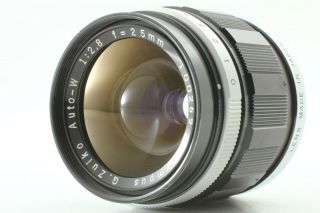 [rare Near Mint] Olympus G Zuiko Auto W 25mm F/2.  8 Lens For Pen F Ft From Japan