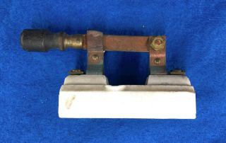 "Antique "" Bryant "" Single Pole Ceramic Knife Switch"