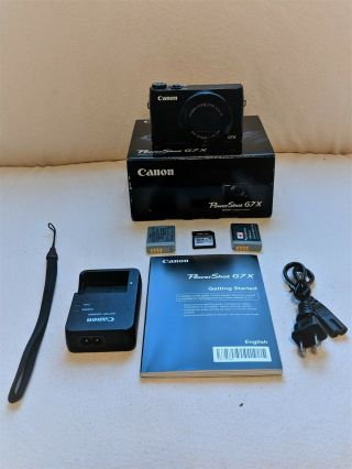 Rarely Used/excellent Canon Powershot G7x (mark I) With