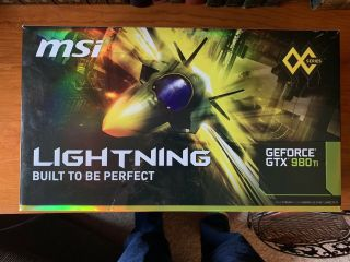 (rare) Msi Gtx 980 Ti Lightning 6gb