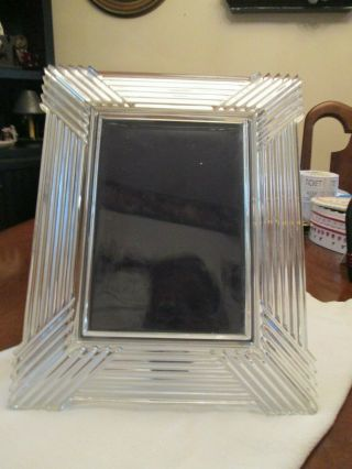 Vintage Heavy Crystal Picture Frame Wedding