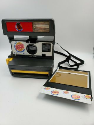 Rare Vintage Burger King Polaroid 600 Camera Film Htf