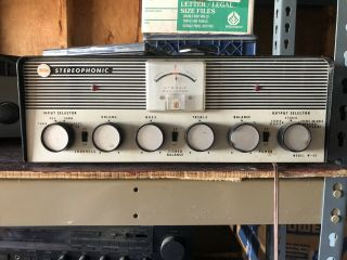 Rare Vintage Trio W - 45 Stereophonic Tube Amp