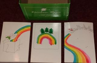 26 Vintage Hallmark Rainbow Christmas Cards W/ Envelopes