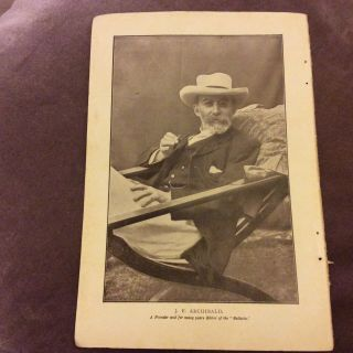 Antique Book Print - J.  F.  Archibald - Founder & Editor Of The Bulletin - 1907