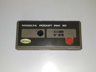 Vintage Minolta Pocket Pak 60 Antique Camera.  Give Offer