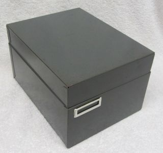 Vintage Steelmaster Office Equipment Gray Steel File Box Card Cabinet No 946 Usa