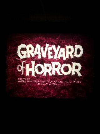16mm Film - Horror - Graveyard Of Horror - 1971 - Very Rare