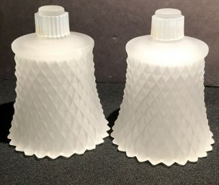Set 2 Vintage Frosted White Homco Hobnail Glass Peg Votive Sconce Candle Holders