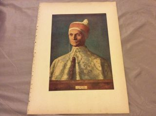 Antique Book Print - Doge Leonardo Loredano - Bellini - 1910