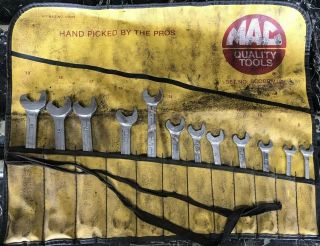 Rare Mac Tools 12pc Flare Nut / Speed Metric Wrench Set 8mm - 19mm