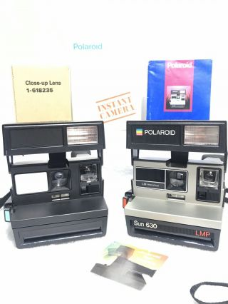 Rare Prototype Polaroid 600 Camera Sun 630 Lmp 635 One Step Vintage Demo