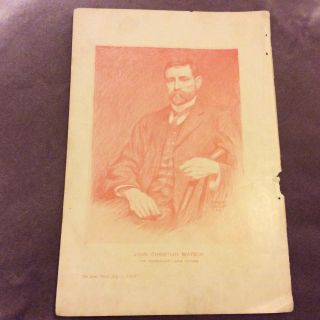 Antique Book Print - John Christian Watson - Australian Labor Leader - 1907