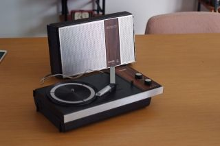 Vintage Retro Philip Gf300 Portable Turntable,  Made In Holland,  Collectable Rare