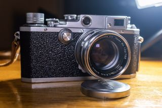 Exc,  /rare Canon Iif Ep 35mm Rangefinder Camera With Canon L39 Mount 50mm F1.  8