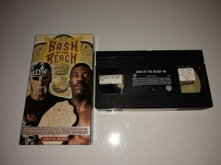 Wcw Bash At The Beach 2000 Vhs Rare Htf Oop Wwe/wwf Wrestling